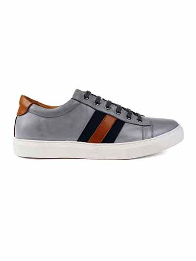 Premium Gray Striped home carousel shoe image