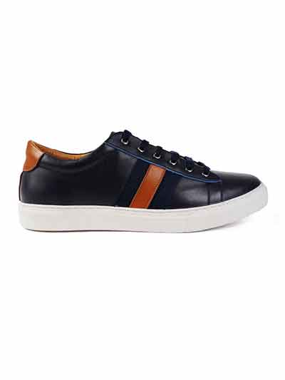 Premium Navy Blue Striped home carousel shoe image