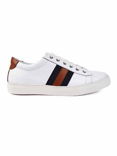 Premium White Striped home carousel shoe image